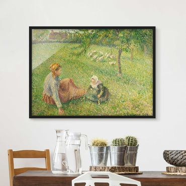 Bild mit Rahmen - Camille Pissarro - Gänsehirtin - Querformat 3:4
