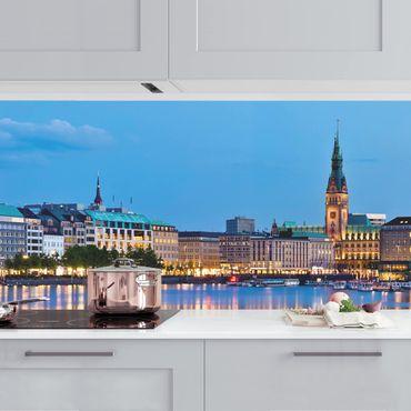 Küchenrückwand - Hamburg Skyline