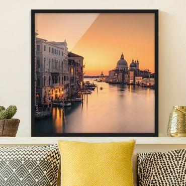 Bild mit Rahmen - Goldenes Venedig - Quadrat 1:1