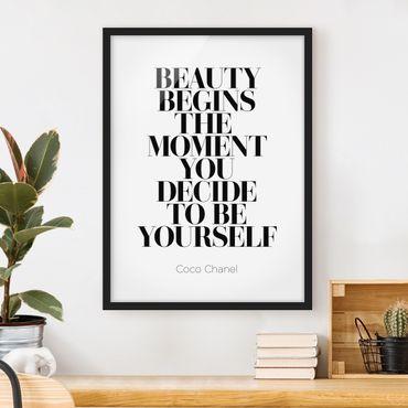 Bild mit Rahmen - Be yourself Coco Chanel - Hochformat 3:4