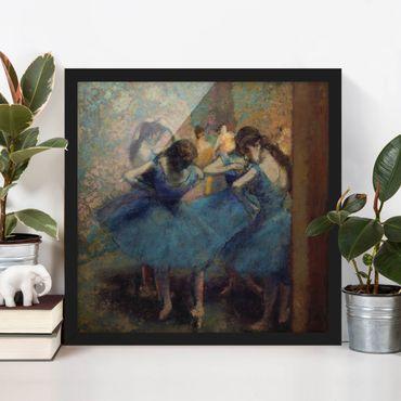 Bild mit Rahmen - Edgar Degas - Blaue Tänzerinnen - Quadrat 1:1