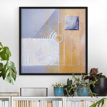 Bild mit Rahmen - Pastel for your room - Quadrat 1:1