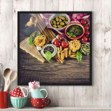 Bild mit Rahmen - Pasta - Quadrat 1:1