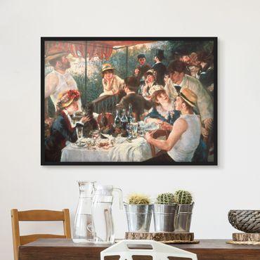 Bild mit Rahmen - Auguste Renoir - Das Frühstück der Ruderer - Querformat 3:4