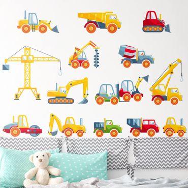Wandtattoo - Baustellenfahrzeuge Set