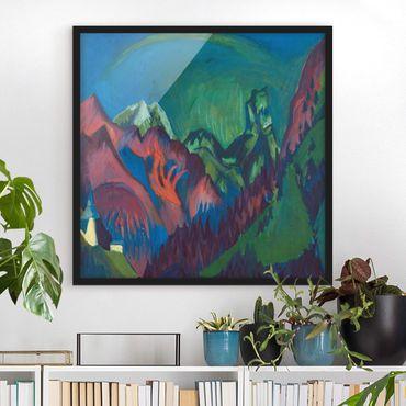 Bild mit Rahmen - Ernst Ludwig Kirchner - Zügenschlucht bei Monstein - Quadrat 1:1
