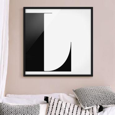 Bild mit Rahmen - Antiqua Letter L - Quadrat 1:1