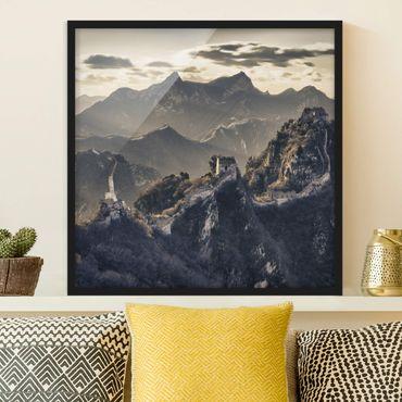Bild mit Rahmen - Die große chinesische Mauer - Quadrat 1:1