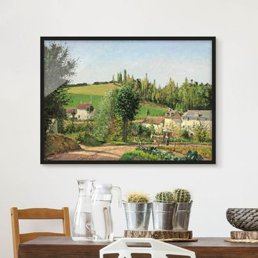 Bild mit Rahmen - Camille Pissarro - Kleines Dorf - Querformat 3:4