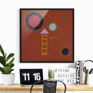 Bild mit Rahmen - Wassily Kandinsky - Beruhigt - Quadrat 1:1