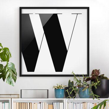 Bild mit Rahmen - Antiqua Letter W - Quadrat 1:1