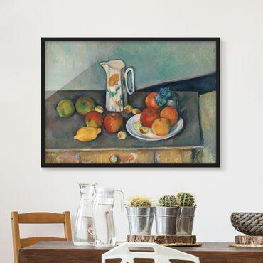 Bild mit Rahmen - Paul Cézanne - Stillleben Milchkrug - Querformat 3:4