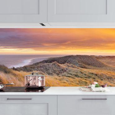 Küchenrückwand - Sonnenaufgang am Strand auf Sylt