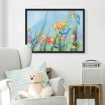 Bild mit Rahmen - Matilda die Meerjungfrauenprinzessin - Querformat 3:4