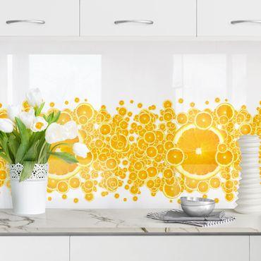 Küchenrückwand - Retro Orange Pattern
