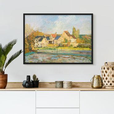 Bild mit Rahmen - Camille Pissarro - Landschaft bei Pontoise - Querformat 3:4
