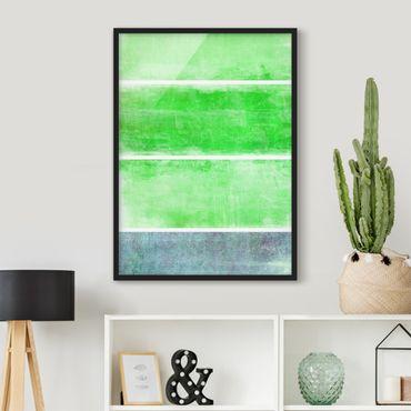 Bild mit Rahmen - Colour Harmony Green - Hochformat 3:4