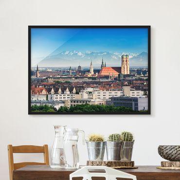 Bild mit Rahmen - München - Querformat 3:4