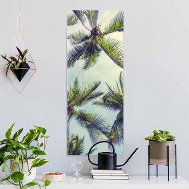 Glasbild - Die Palmen - Hochformat