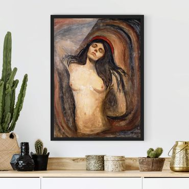 Bild mit Rahmen - Edvard Munch - Madonna - Hochformat 3:4