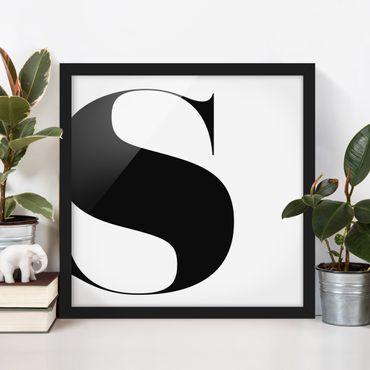 Bild mit Rahmen - Antiqua Letter S - Quadrat 1:1