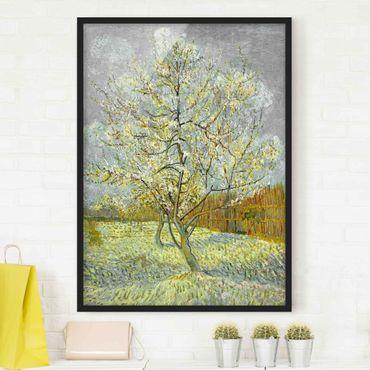 Bild mit Rahmen - Vincent van Gogh - Pfirsichbaum rosa - Hochformat 3:4