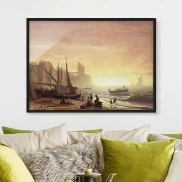 Bild mit Rahmen - Albert Bierstadt - Fischereiflotte - Querformat 3:4
