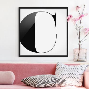 Bild mit Rahmen - Antiqua Letter C - Quadrat 1:1