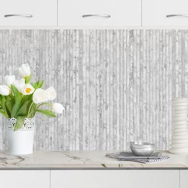 Küchenrückwand - Betonoptik Tapete mit Streifen