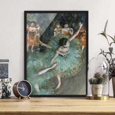 Bild mit Rahmen - Edgar Degas - Tänzerinnen in Grün - Hochformat 3:4