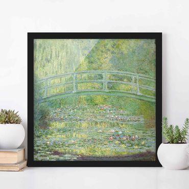 Bild mit Rahmen - Claude Monet - Japanische Brücke - Quadrat 1:1