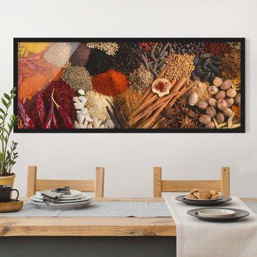 Bild mit Rahmen - Exotische Gewürze - Panorama Querformat