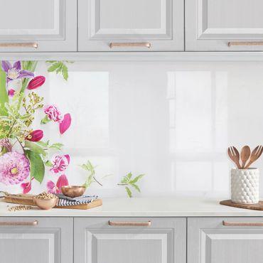 Küchenrückwand - Blumenarrangement