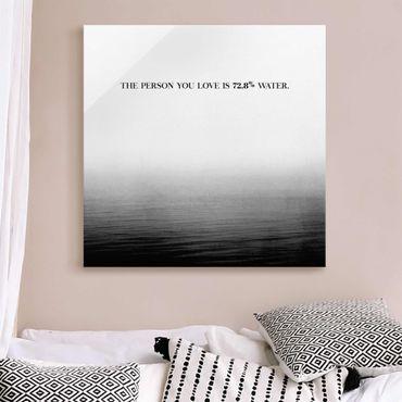 Glasbild - Lyrische Landschaften - Liebe - Quadrat 1:1