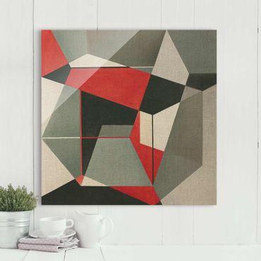 Glasbild - Geometrischer Fuchs - Quadrat