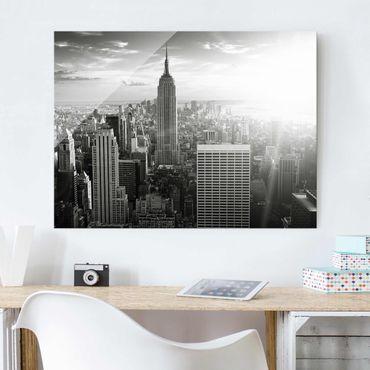 Glasbild - Manhattan Skyline - Quer 4:3