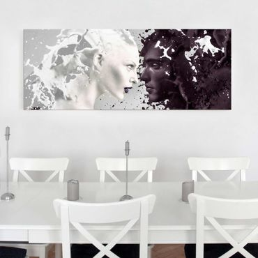 Glasbild - Milk & Coffee - Panorama Quer
