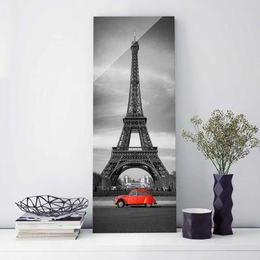 Glasbild - Spot on Paris - Panorama Hoch