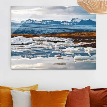 Glasbild - Gletscherlagune - Querformat