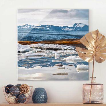 Glasbild - Gletscherlagune - Quadrat