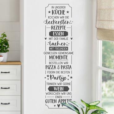 Wandtattoo - Essen und Lachen in unserer Küche