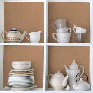 Möbelfolie Taupe einfarbig - Terracotta - Klebefolie für Möbel in warmen braun