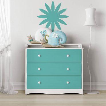 Möbelfolie türkis einfarbig - Möbel Klebefolie blau-grün - selbstklebend