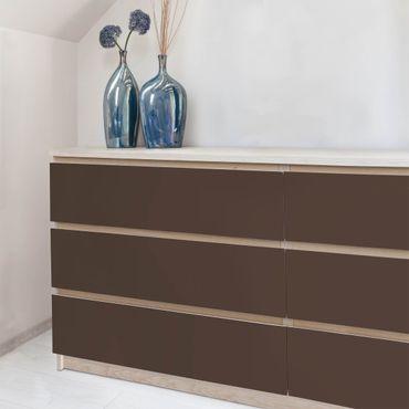 Möbelfolie braun einfarbig - Cacao - Klebefolie Möbel dunkelbraun selbstklebend