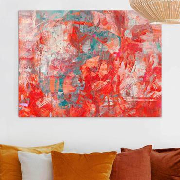 Glasbild - Roter Feuertanz - Querformat