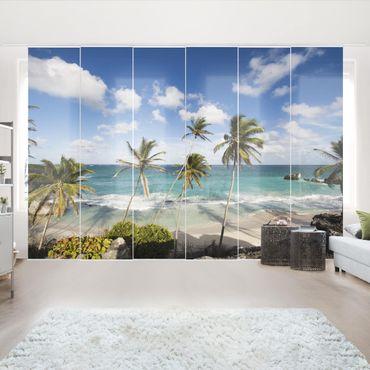 Schiebegardinen Set - Beach of Barbados - Flächenvorhänge