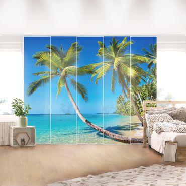 Schiebegardinen Set - Beach of Thailand - Flächenvorhänge