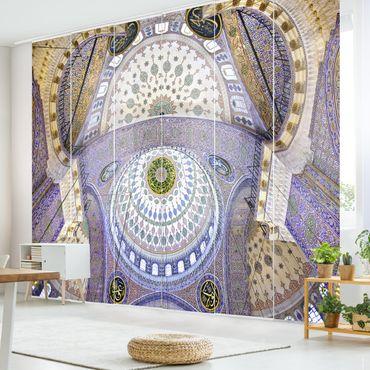 Schiebegardinen Set - Blaue Moschee in Istanbul - Flächenvorhänge