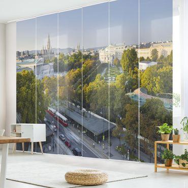 Schiebegardinen Set - Blick über Wien - Flächenvorhänge