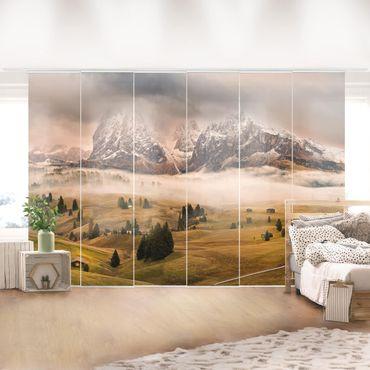 Schiebegardinen Set - Dolomiten Mythen - Flächenvorhänge
